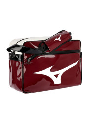 Messenger Bag, MIZUNO Enamel Bag, bordeaux/white