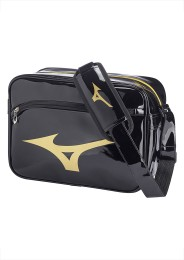 Messenger Bag, MIZUNO Enamel Bag, black/gold