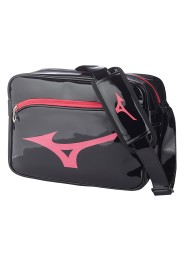 Messenger Bag, MIZUNO Enamel Bag, black/pink