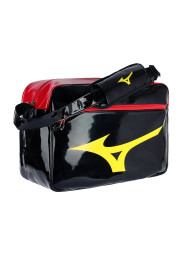 Messenger Bag, MIZUNO Enamel Bag, black/gold/red